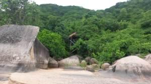 Tent on Domwe island