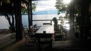 Dinning deck at Domwe